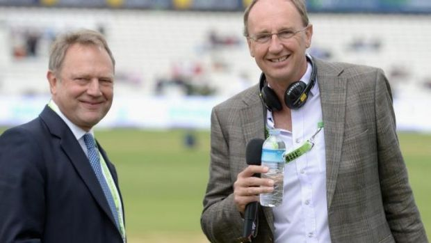 England's manager director of cricket, Paul Downton, speaks with Jonathan Agnew of the BBC's Test Match Special at the Oval.
