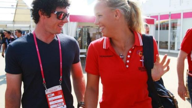 McIlroy and Wozniacki at the London Olympics in 2012.
