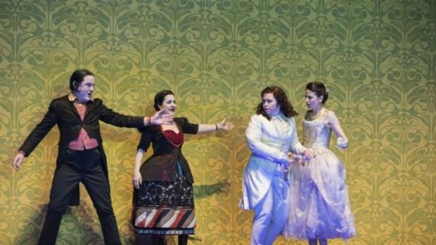 Irish mezzo Tara Erraught (second from right) in <i>Der Rosenkavalier</i> at the Glyndbourne Festival. Several London ...