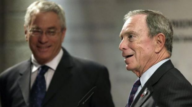 Former New York Mayor Michael Bloomberg speaks during a news conference of the Genesis Prize Foundation in Jerusalem.