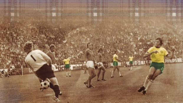Digitally altered image from A History of Football in Australia (Hardie Grant).
