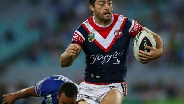 Anthony Minichiello darts upfield.