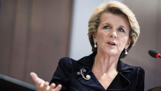 Urging caution: Foreign Minister Julie Bishop.