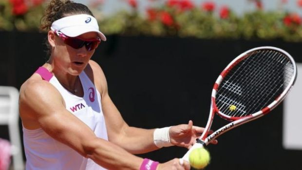 Up against it: Sam Stosur.