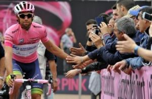Canberra's Michael Matthews held the pink jersey, the Giro's overall leader's jersey, for six days.
