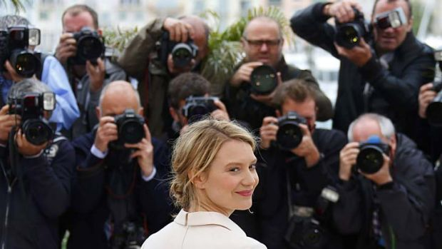 Uncomfortable: Mia Wasikowska on the red carpet.