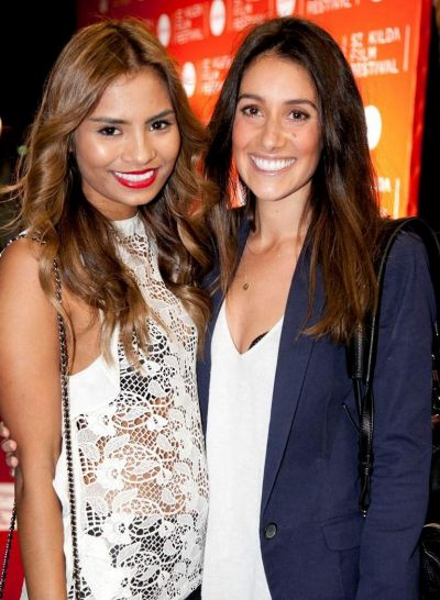Now You See Me: Sanchia Peterson (left) and Rosalyn D'Angelo at the St Kilda Film Festival opening.