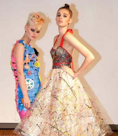 Frock 'n' roll: Gloria Duynhoven (left) and Annie Broussard at Philip Boon Presents: Jenny Bannister, benefitting the ...