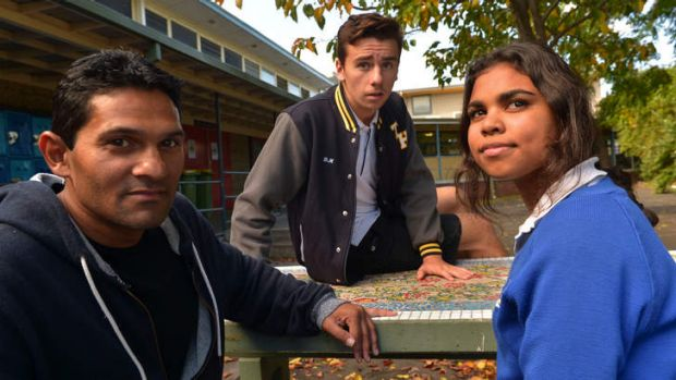 Guy Neaves (left) helps prevent Thornbury High School students from dropping out.