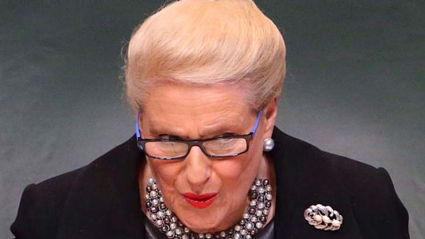Criticised for using the Speaker's office for party fund-raising events: Bronwyn Bishop.