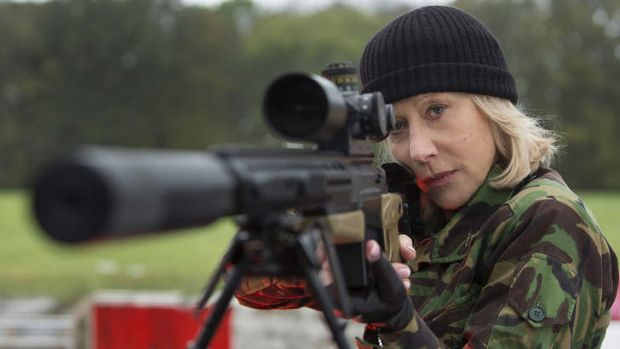 Helen Mirren as a mature-age action hero in <i>Red</i>.