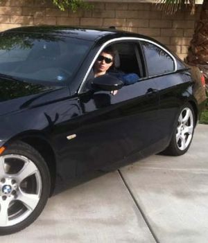 Rodger in his black BMW.