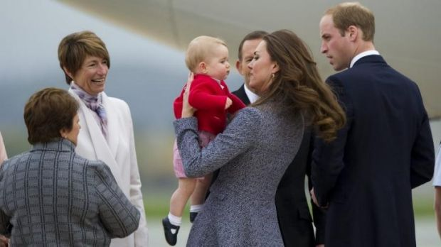 Margie Abbott, pictured left with the Duke and Duchess of Cambridge, has defended her involvement in charity work.
