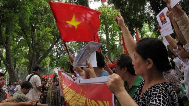 Anti-Chinese protesters in Vietnam rally against Beijing's deployment of an oil rig in the contested waters of the South ...