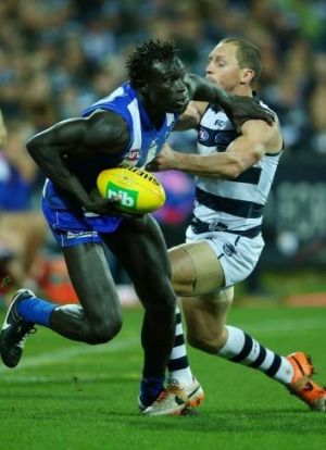 Move: North Melbourne's Majak Daw has been criticised for his lacklustre start to the season.