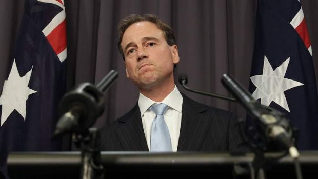Environment Minister Greg Hunt addresses the media.