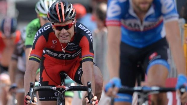 Australia's Cadel Evans, of BMC Racing, is just over a minute off the pace in his quest for the Maglia Rosa.
