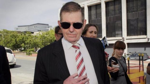 Peter Slipper at a previous court appearance in December.