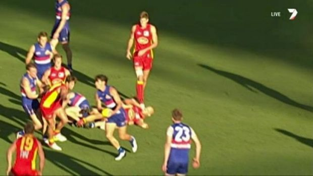 Gold Coast captain Gary Ablett could be scrutinised by the match review panel for this off-the-ball blow to Western ...