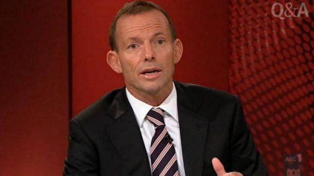 The last time Tony Abbott was on <i>Q&A</i>.