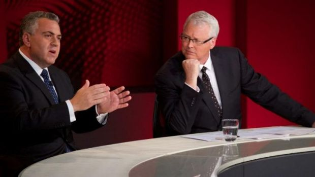 Sweating over the budget ... Joe Hockey still went up in public opinion after being on <i>Q&A</i>.