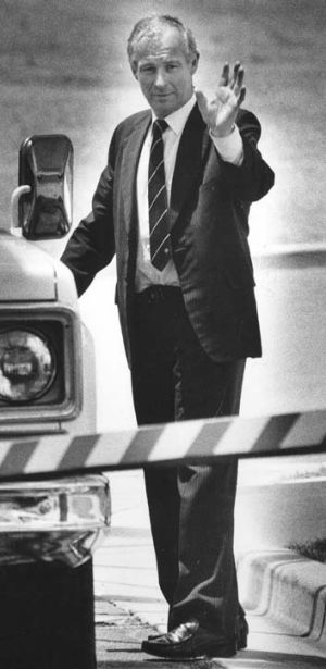 Rogerson leaves Long Bay Gaol in December 1990.