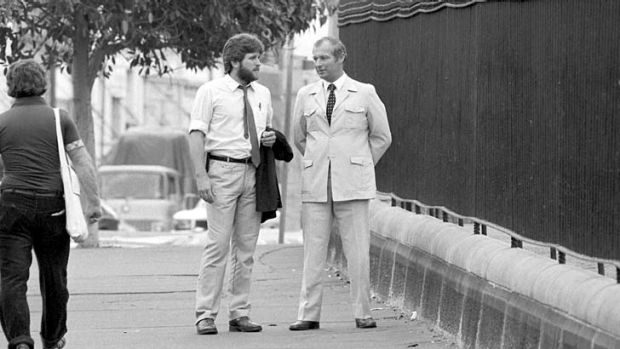 Notorious: Roger Rogerson (right) in the 1980s.
