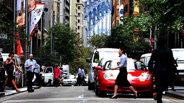 No speed zone: Pitt Street, along with other roads in the Sydney CBD will have a lowered speed limit enforced.