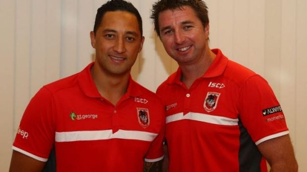 Changing times: Steve Price, pictured with Benji Marshall earlier this month.