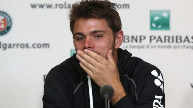 Struggling for answers: Stanislas Wawrinka.
