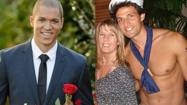 New Bachelor Blake Garvey (left) also worked as a topless waiter like his predecessor Tim Robards (pictured with Fairfax ...