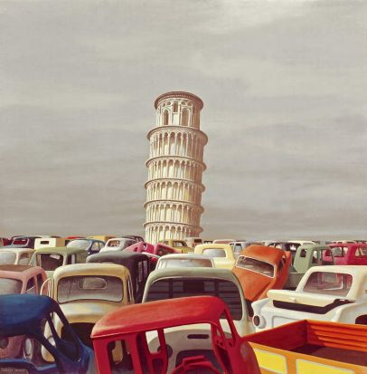 Motordump Pisa II, 1971, Jeffrey Smart