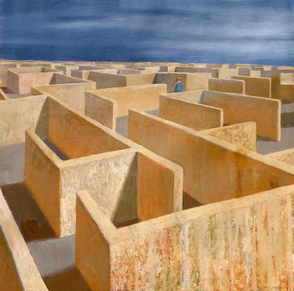 Labyrinth, 2011, Jeffrey Smart