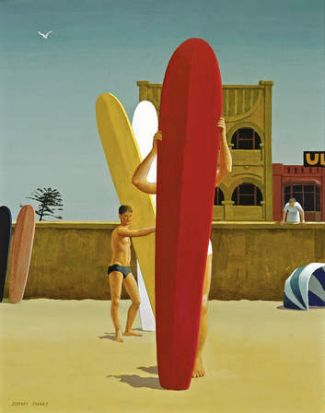 The Surfers Bondi 1963, Jeffrey Smart.