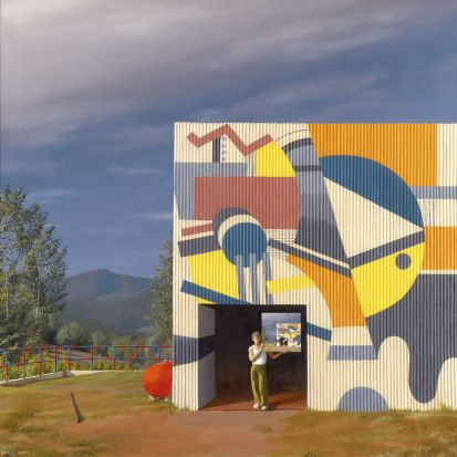 Painted Factory, 1972, Jeffrey Smart.