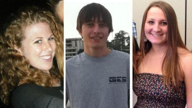 Victims of mass killing near California University: Katie Cooper, Chris Martinez and Veronika Weiss.