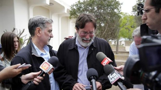 Richard Martinez speaking to the media the day after his son's death.