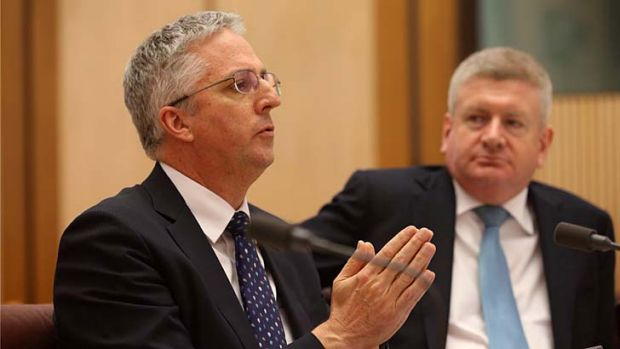 ABC managing director Mark Scott appears before Senate Estimates at Parliament House on Wednesday.