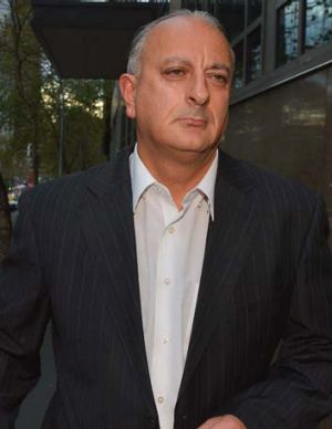 Bill Jordanou leaves court after being given bail.