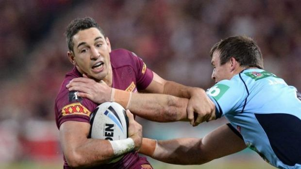 Maroons fullback Billy Slater was involved in everything for Queensland.