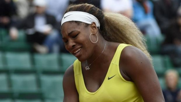 Top seed Serena Williams lost 6-2 6-2 in the second round to the world number 35.