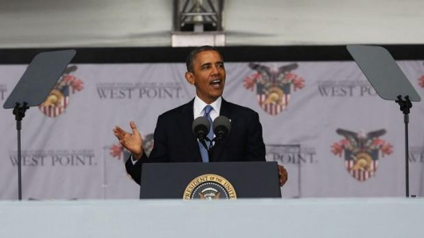 President Barack Obama gives an address at the US Military Academy at West Point in New York.