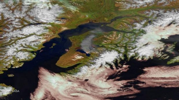 Smoke spreads over the Kenai Peninsula