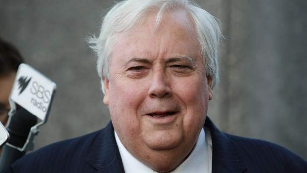 Clive Palmer said the budget was not on the menu at a dinner he had with Malcolm Turnbull in Canberra.