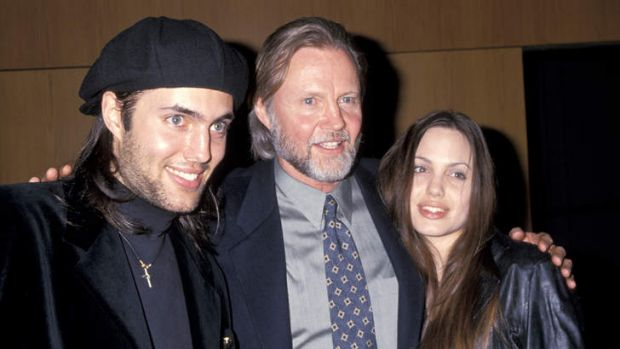Complicated history: With her brother, James Haven, and father, Jon Voight, in 1994.