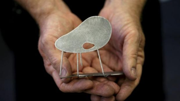 Peter Mclisky's mini-version of Australian-designed chairs  commissioned by the NGV.