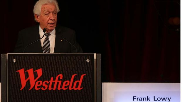 Used to getting his own way: Frank Lowy.