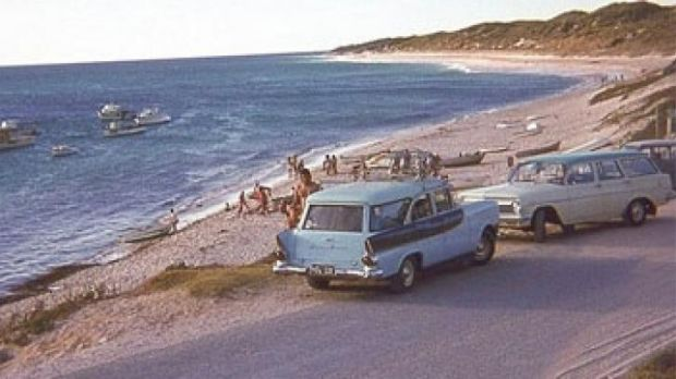 A snapshot from the past, visiting beaches in the 1960s.