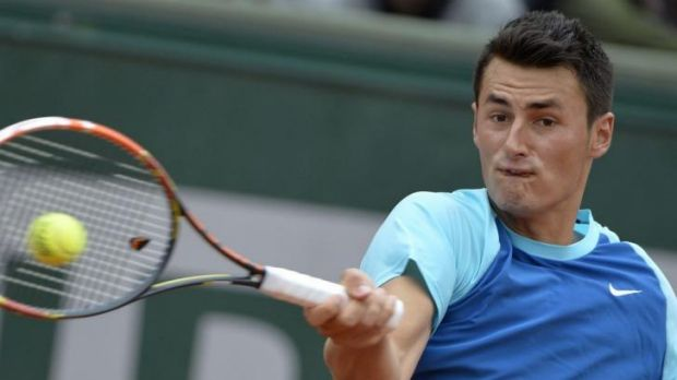 Channel crossing: Bernard Tomic is happy to leave Paris for British grass.