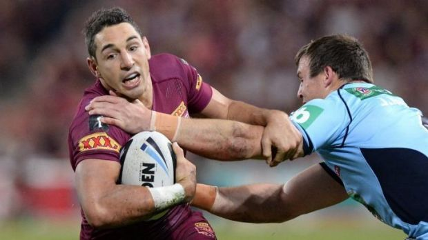 Queensland veteran Billy Slater tries to get past Blues winger Brett Morris. Scheduling needs to be addressed so Origin ...